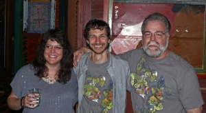 "Barry ""Baz"" Harrell, Wally and Barry's wife after a show in his area in 2012. C. B. Harrell"