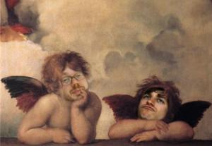 Sheil & Wally in cherubic form