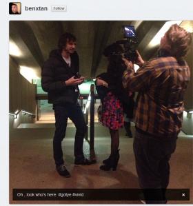 Wally interviewing at Vivid c. Instagram user benxtan