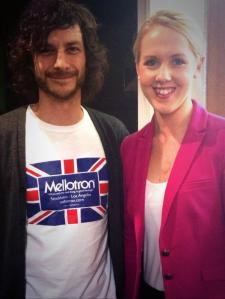 ABC North Tas journo Emily Bryan with Wally yesterday