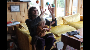 Wally may have mad basketball skills....but he also has mad levitation skills. Via Nick...and his son! (lap)