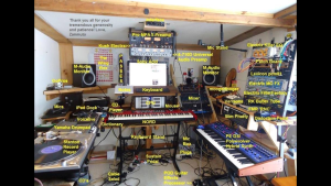 Nick's amazing and very clearly labeled inner sound-sanctum